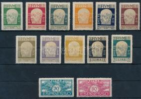 Definitive 13 diff stamps (3L gum disturbances), 13 klf Forgalmi érték (3L betapadás / gum disturbance)