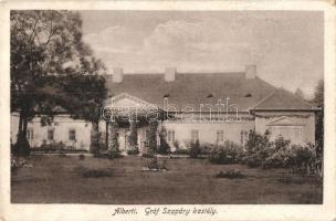Albertirsa; Gróf Szapáry kastély, Revuczky Kálmán kiadása (kopott sarok / worn corner)
