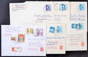 100 db magyar díjjegyes küldemény, közte sok díjkiegészített és színváltozat