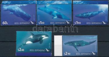 Bálnák ívszéli sor Whales margin set