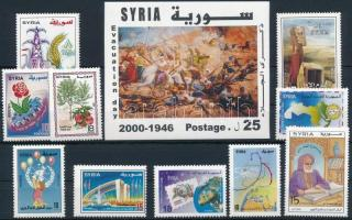 10 diff stamps + 1 block, 10 klf bélyeg + 1 blokk
