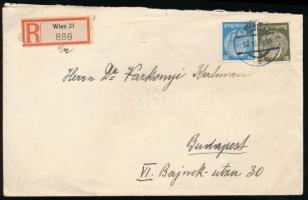 1938 Ajánlott levél WIEN - Budapest