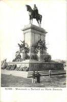 Rome, Roma; Monumento a Garibaldi sul Monte Gianicolo / monument