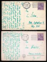 Böhmen und Mähren 1942 2 db Képeslap Prágából