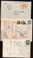 8 db postai küldemény érdekes bélyegzésekkel