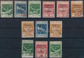 Carnaro-sziget 1920 12 klf Forgalmi Mi 1-6, 8-9, 11-13, 15