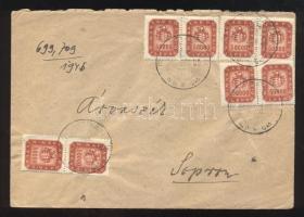 (21. díjszabás) Távolsági levél 8 x 50.000 milpengő bérmentesítéssel Domestic cover