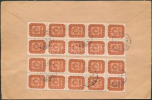 (21. díjszabás) 20 x 20000 milpengő távolsági levélen / 20 x Mi 913 on cover Inflation cover