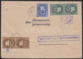 1946 (13. díjszabás) Nyitott kézbesítési bizonyítvány 375 ezer P bérmentesítéssel / Delivery receipt with 375.000 P franking