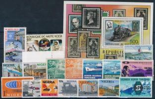 1949-2011 Vonat motívum 16 db klf bélyeg + 1 db blokk