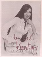 Koncz Zsuzsa énekes aláírt képe 9x12 cm