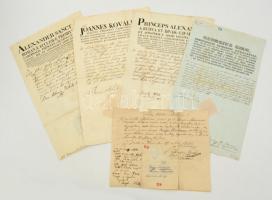 1820-1844 Különféle püspöki levelek, összesen 5 db