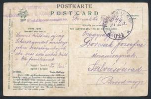 1917 Tábori posta képeslap K.u.k. Infanterieregiment ... Königh Preussen + TP 644 A