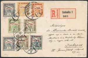 1916 Hadisegély bélyegek ajánlott levélen