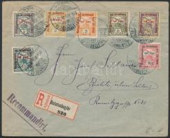 1916 Hadisegély II. bélyegek ajánlott levélen Sziléziába