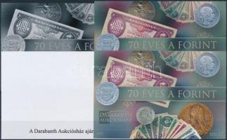 2016 70 éves a Forint 4 db-os emlékív garnitúra azonos sorszámmal (003)