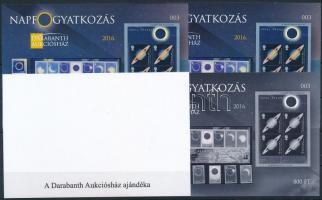 2016 Napfogyatkozás emlékív 4 db-os garnitúra azonos sorszámmal (003)