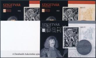 2016 Szigetvár ostroma emlékív 4 db-os garnitúra azonos sorszámmal (002)