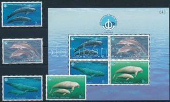 Marine mammals set + block, Tengeri emlősállatok sor + blokk