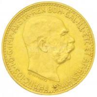 Ausztria 1912. 10K Au Ferenc József utánveret (3,38g/0.900) T:1-,2 Austria 1912. 10 Corona Au Franz Joseph restrike (3,38g/0.900) C:XF  Krause 2816.
