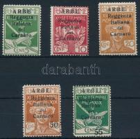 Carnaro-sziget 1920 5 klf Forgalmi Mi 20-22 I, 24-25 II