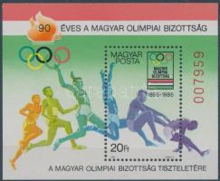 1985 Magyar Olimpiai Bizottság ajándék blokk (26.000)