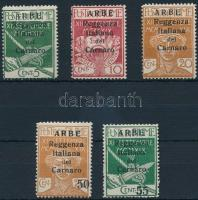 Carnaro-sziget 5 klf Forgalmi (5C, 20C betapadás) Carnaro Island 5 definitive stamps (5C, 20C gum disturbances)