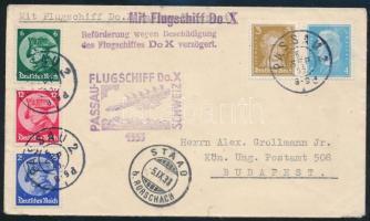 A Dornier Do. X elmaradt budapesti repülésére feladott levél Cover mailed for the failed Passau-Budapest flight
