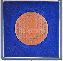 Papp László (1947-) 1988. Első királyunk, Szent István halálának 950. évfordulójára, a Szent Jobb országjárásának emlékére 1038-1988 patinázott vörösréz emlékérem tanúsítvánnyal, eredeti tokban (70mm) T:1- karc