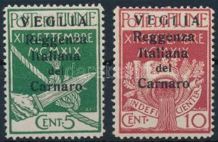 Carnaro-sziget 1920 Forgalmi Mi 28-29 II