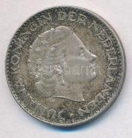 Hollandia 1956. 1G Ag Julianna T:2 patina Netherlands 1956. 1 Gulden Ag Juliana C:XF patina