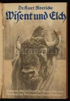 Dr. Kurt Floericke: Wisent und Elch. Stuttgart, 1930, Kosmos. Kiadói félvászon kötés, kissé sérült fűzéssel, egészoldalas és szövegközti illusztrációkkal, német nyelven. / Linen-binding, the binding is little bit damaged, in german language.