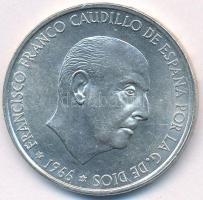 Spanyolország 1966. 100P Ag Caudillo T:2 apró ph. Spain 1966. 100 Pesetas Ag Caudillo C:XF tiny edge error Krause KM#797