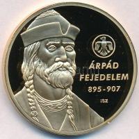 Ifj. Szlávics László (1959-) 2012. Nagy magyarok / Árpád fejedelem 895-907 aranyozott Cu emlékérem (40mm) T:PP
