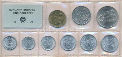 1979. 2f-10Ft (10xklf), érmés forgalmi sor fóliatokban T:1 Adamo FO12