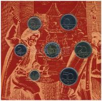 2001. 1Ft-100Ft (7xklf) érmés forgalmi sor karton dísztokban T:BU Adamo FO34