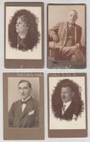 cca 1930 8 db különféle portréfotó, köztük katonai is, 11×7 cm