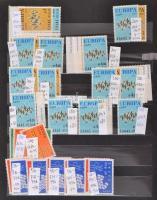 Europa CEPT, ENSZ New York Kb. 189 db sor + 7 blokk, 6 lapos közepes, vászon kötésű berakóban