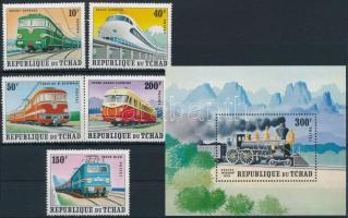 1972 Vasút sor Mi 542-546 + blokk 43