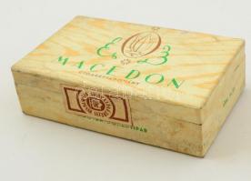 Macedon dohány bontatlan dobozában, foltos, 12×7 cm