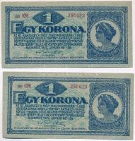 1920. 1K (2x) sorszámkövetők T:I,I- Adamo K4