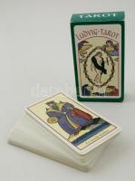 Ludwig tarot kártya pakli, leírással, eredeti dobozában, 12×6 cm