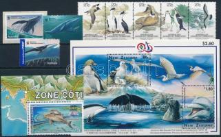1983-2009 Tengeri állatok motívum 1 db sor + 1 db blokk + 4 db önálló érték