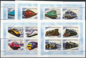 2001 Vonatok a világ minden tájáról kisívsor Mi 2168 A -2207 A