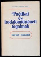 Iglói Endre, Jagusztin László: Poétikai és irodalomtörténeti fogalmak. Bp., 1989, Tankönyvkiadó. Kiadói kartonált papírkötés, orosz és magyar nyelven.