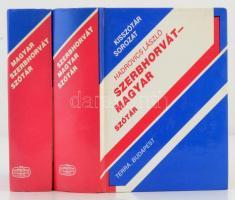 Hadrovics László: Szerbhorvát-magyar, magyar-szerbhorvát szótár. Kisszótár sorozat. Bp., 1991, Terra. Kiadói kartonált papírkötés. Jó állapotban.