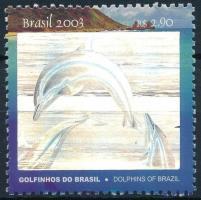 Fernando de Noronha islands, dolphins, stamp, Fernando de Noronha szigetek, delfinek, hologramfóliás bélyeg