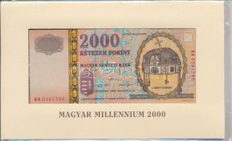 2000. 2000Ft Millennium eredeti, bontatlan csomagolásban T:I