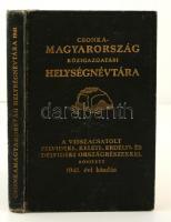 Vitéz Várady Károly(szerk.): Csonka-Magyarország közigazgatási helységnévtára 1941. Az anyaországot, a visszacsatolt Felvidéket, Kárpátalját, Kelet-Magyarországot és Felső-Erdélyt magában foglaló kilencedik kiadás. Bp., 1941, Hornyánszky Viktor. Kiadói aranyozott egészvászon kötésben jó állapotban.