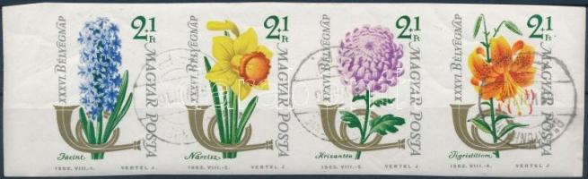 1963 Bélyegnap (36.) vágott összefüggő csík (3.500)